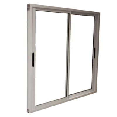 Ventana de aluminio cierre lateral 150 X 150 cm blanca