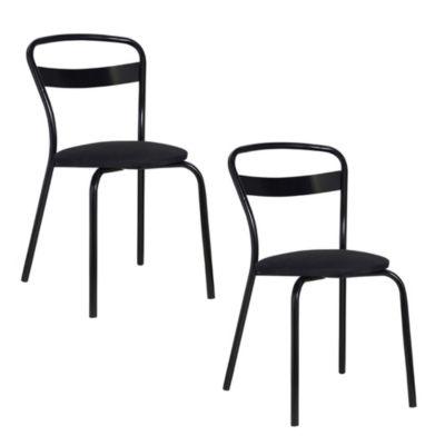 Set de 2 sillas Milano negro