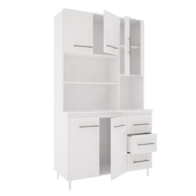 Cocina modular kit triple 5 puertas 3 cajones Blanco