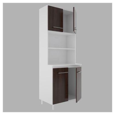 Cocina modular kit doble 4 puertas Blanco y wengue