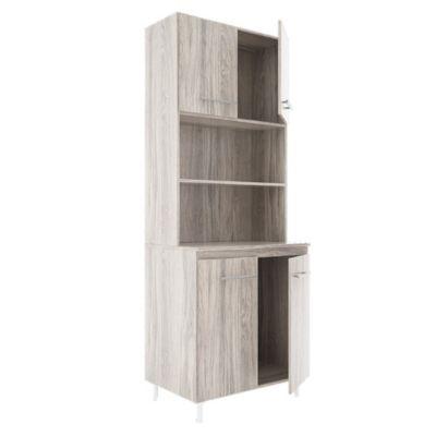 Cocina modular kit doble 4 puertas Abedul