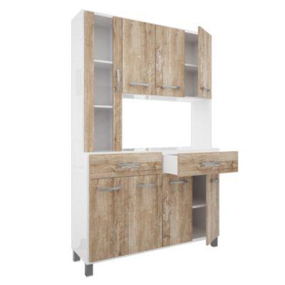 Cocina modular kit con alacena Murano 8 puertas Atakama