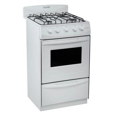 Cocina a gas 01.01-00070 51 cm 4 hornallas blanco