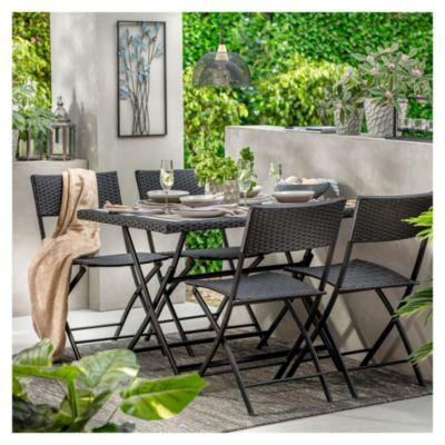 Juego de exterior Paraná mesa + 4 sillas