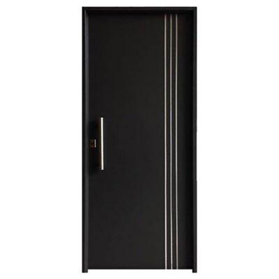 Puerta exterior negra 80 cm derecha