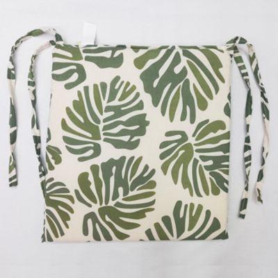 Almohadón decorativo para silla hoja tropical