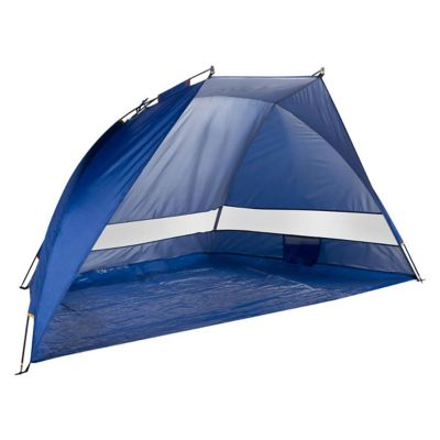 Sombrilla paraviento azul con UPF 50