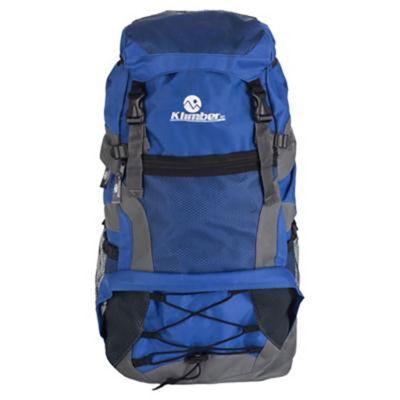 Mochila de camping azul 55 L