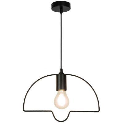 Lámpara colgante silueta pantalla campana negra