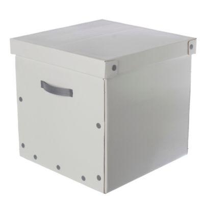 Caja Cubo con tapa blanca