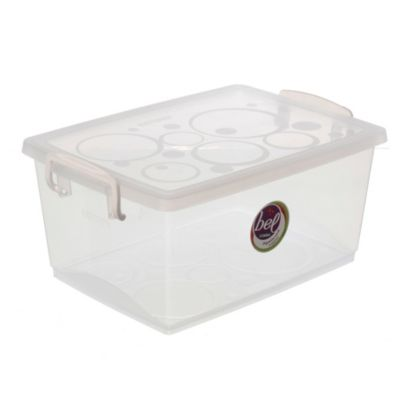 Caja organizadora con trabas 7.5 l Transparente