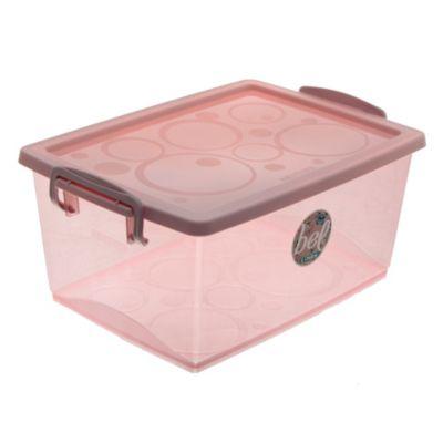 Caja organizadora con trabas 7.5 l Rosa