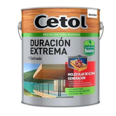 Protector para maderas exterior satinado caoba 1 L