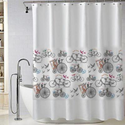 Cortina de baño bici 180 x 180 cm