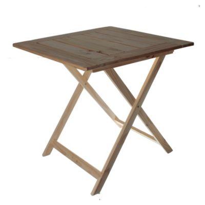 Mesa de exterior pino 75 x 75 cm