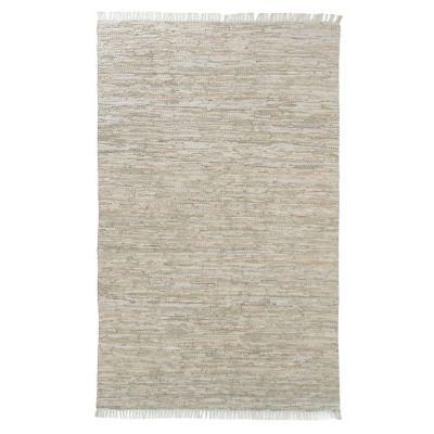 Alfombra goose cuero 120 x 170 cm beige