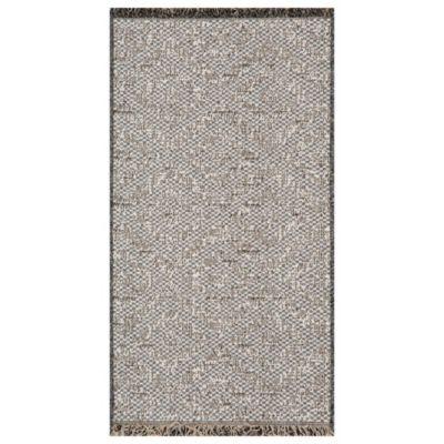Alfombra chiva forma 67 x 120 cm gris