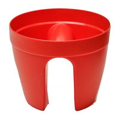 Maceta circular de plástico roja