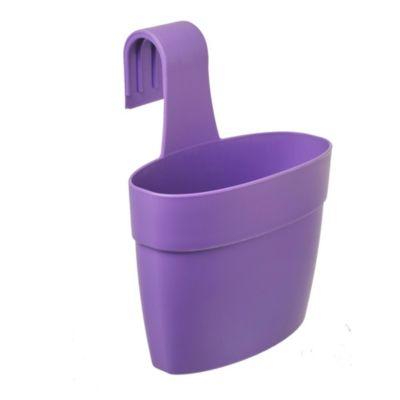 Maceta jardinera de plástico violeta