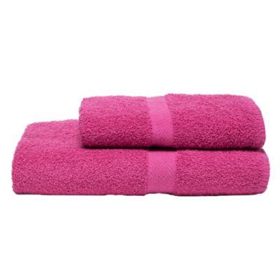 Toalla de mano 400 g 45 x 80 cm hot pink