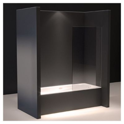 Mampara de bañera paño fijo 140x 90 cm