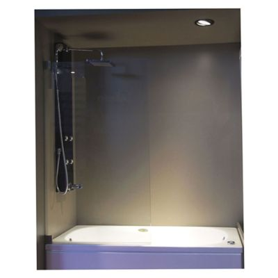 Mampara de bañera paño fijo 140 x 80 cm