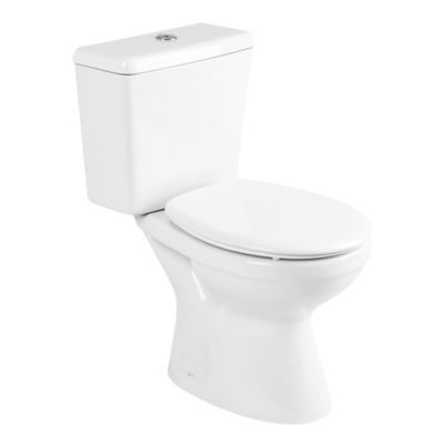 Kit completo inodoro + depósito + asiento + accesorios Italiana Capea blanco