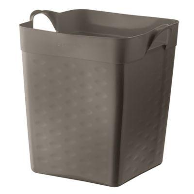Canasto cuadrado gris 18 L