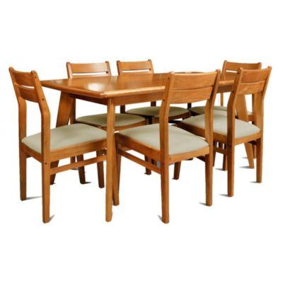 Juego de comedor Docta mesa + 6 sillas