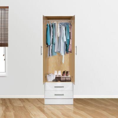 Placard Tana plus 2 puertas 2 cajones blanco