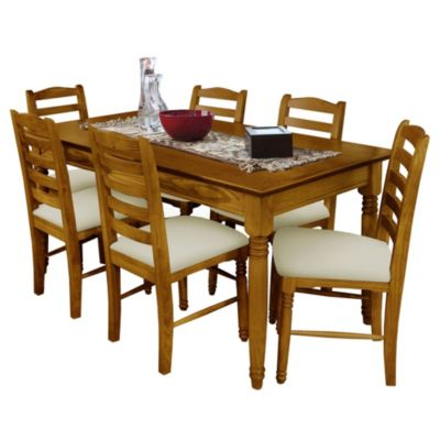 Juego de comedor Tradición Caoba mesa + 6 sillas