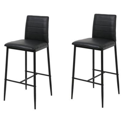Set x 2 sillas para bar negras