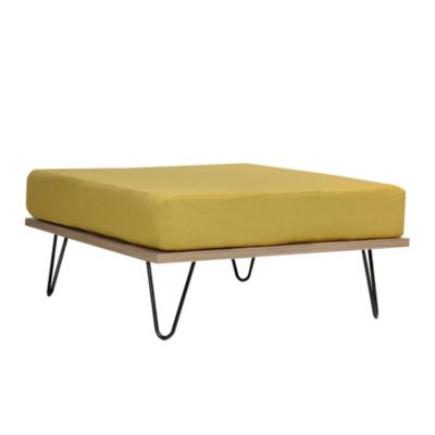 Puff apoya pies Day Bed tapizado verde