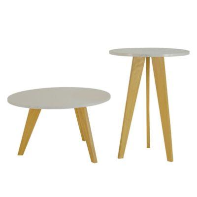 Set de mesas ratonas 60 y 45 cm