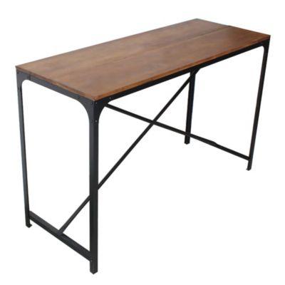 Mesa barra de hierro y madera 140 cm