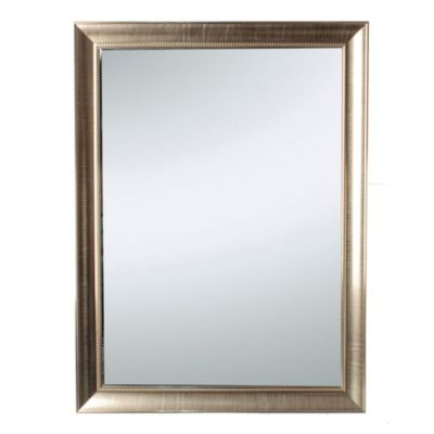 Espejo rectangular champagne 50 x 70 cm