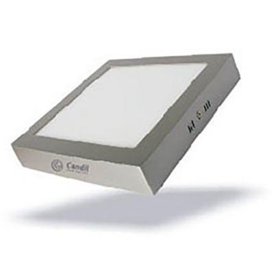 Panel LED cuadrado 6 w niquelado cálido