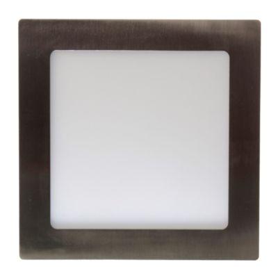 Panel LED cuadrado 12 w niquelado cálido