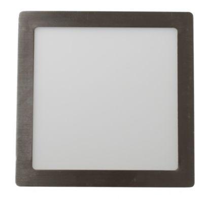 Panel LED cuadrado 18 w niquelado cálido
