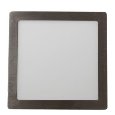 Panel LED cuadrado 18 w niquelado fría