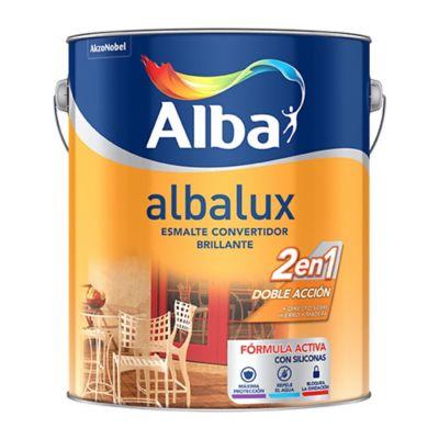 Pintura látex interior Albalux  2 en 1 blanco 4 L