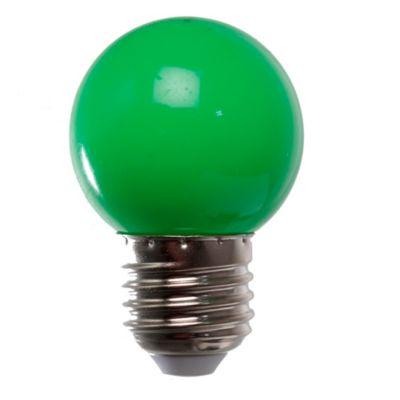 Lámpara LED 2 W verde E27