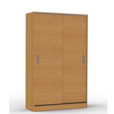 Placard 2 puertas con 2 cajones roble natural