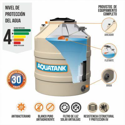Tanque de agua 3 capas 400 l con equipamiento