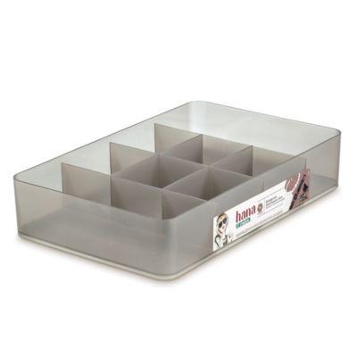 Organizador con divisiones cristal mediano
