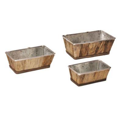 Macetas jardineras de madera  x 3 unidades