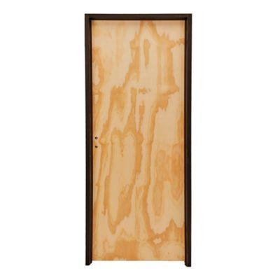 Puerta placa pino 70 x 200 x 10 cm Izquierda