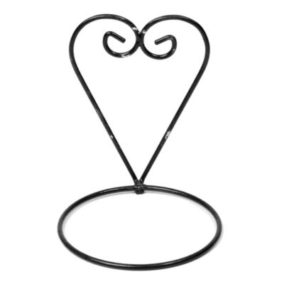 Soporte para macetas de metal corazón