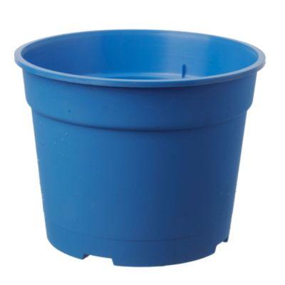 Maceta circular de plástico azul