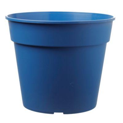 Maceta circular de cerámica azul